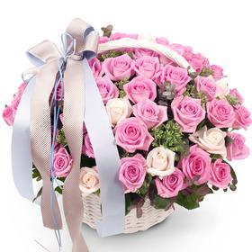 핑크 꽃바구니