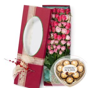 50송이꽃상자 4호(핑크혼합)(초콜렛포함)